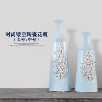镂空花瓶陶瓷客厅台面花瓶摆件简约现代家居软装饰品