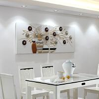 卧室床头装饰画现代简约小清新无框书房壁画餐厅挂画房间创意装饰 如图色/白底色 60*80 25mm厚板/10mm立体画