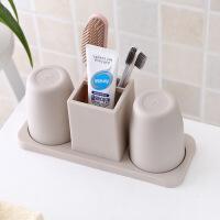 美式卫浴件套欧式漱口杯套装卫生间浴室洗漱用具树脂刷牙杯用品