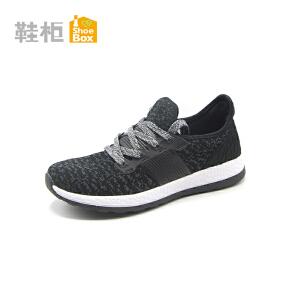 达芙妮集团 鞋柜秋款圆头系带拼色舒适运动女鞋