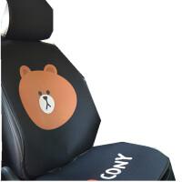 亚麻汽车坐垫布朗熊蝙蝠侠漫威超人叮当猫哆啦a梦座坐垫