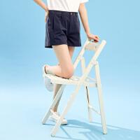 【1件4折到手价:47.6】美特斯邦威休闲短裤女夏装新款港风复古直筒裤学生chic短裤子