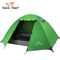 防暴雨双人玻杆野外帐篷户外帐篷2人旅游露营自驾游