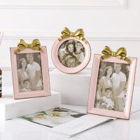 欧式相框摆台4寸5寸6寸创意蝴蝶结桌摆相框家居装饰照片摆台 蝴蝶结相框
