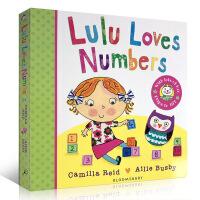 现货英文原版 Lulu Loves Numbers 幼儿故事图画 纸板翻翻书 露露 Lulus系列 启蒙认知书 幼儿数