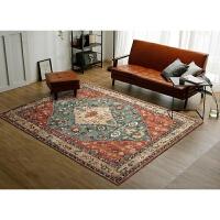 美式复古地毯欧式民族风客厅地毯乡村简约沙发茶几卧室床边毯定制 200x300CM【耐脏耐磨款 可水洗机洗