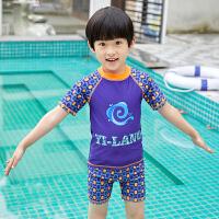 儿童泳衣男童分体泳裤套装男孩中大童泳装小童宝宝防晒速干潮