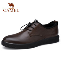 camel骆驼男鞋 秋季新款商务正装皮鞋男牛皮套脚皮鞋休闲办公鞋