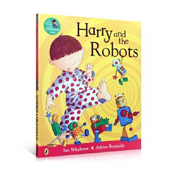 英文原版 harry and the robots 哈利和机器人 儿童趣味故事绘本