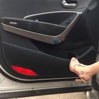 马自达睿翼马6马3星骋马2CX-7阿特兹马8 CX-5昂科赛拉车门防踢垫 黑色红线 (留言车型和年份)