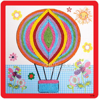 儿童手工制作材料 幼儿园diy粘贴画 绳子艺术 幼儿园diy手工材料彩色
