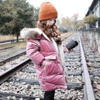 童装女童棉衣外套2018新款韩版冬装中大童加厚儿童中长款棉袄
