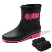 时尚韩国雨鞋女雨靴女士马丁胶鞋中筒水靴防水鞋短筒防滑套鞋