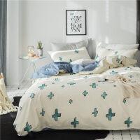 简约双人床单被套1.5米1.8m三件套床上用品 2.0m(被套220*240 床单245*270