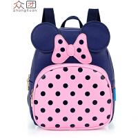 韩国2岁宝宝书包1-3-6岁幼儿园儿童背包女孩时尚可爱双肩包潮xx 蓝色 小号