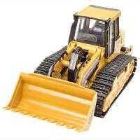 儿童无线遥控推土机 履带铲车工程车 电动遥控车玩具车带充电加大