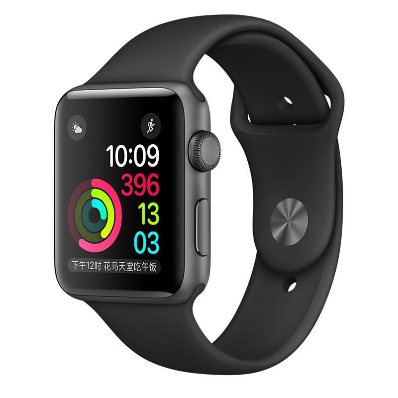 Apple Watch Sport Series 1智能手表(42毫米深空灰色铝金属表壳搭配黑色运动型表带 MP032CH/A)可使用礼品卡支付 国行正品 全国联保