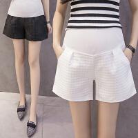 孕妇外穿薄款时尚孕妇装夏装宽松秋季托腹阔腿裤子短裤春