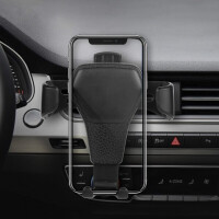 车载手机支架 汽车出风口手机夹多功能重力支架 懒人直播手机创意