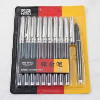 英雄钢笔007暗尖硬笔书法练字文具小学生用钢笔 特细 老式送笔尖