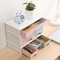 可叠加抽屉式多层组合收纳柜办公塑料分格整理盒桌面化妆品收纳盒