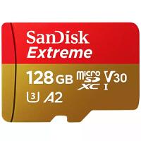 闪迪至尊极速TF卡 128G extreme microSDXC 存储卡 TF内存卡 128G运动相机无人机 V30