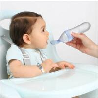 nuby挤压式婴儿喂养勺硅胶勺子辅食勺喂哺勺宝宝米粉米糊勺喂食器