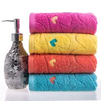 毛巾纯棉四条装 全棉加厚款洗脸面巾柔软吸水