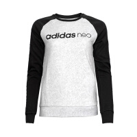 Adidas阿迪达斯 2017新款女子NEO运动休闲圆领套头衫卫衣 BK6935