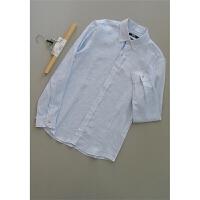 念[A49-226]专柜品牌正品亚麻新款打底衬衣男装衬衫0.23KG