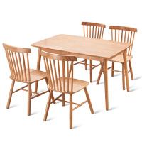 温莎椅北欧实木餐椅家用靠背椅子美式现代简约餐桌饭店咖啡厅椅子