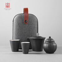 家用简约陶瓷小罐泡茶壶套装 便携包快客杯一壶二杯旅行功夫茶具