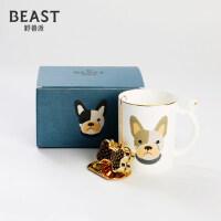 THE BEAST/野兽派 法斗骨瓷马克杯 狗狗印花杯子带茶漏 礼物礼品
