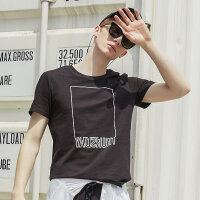 【2件2.5折到手价:17.3】美特斯邦威短袖t恤男夏季新款潮流个性印花圆领纯棉男士上衣