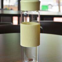 小麦秸秆环保高硼硅玻璃杯简约清新办公杯防漏便携商务透明水杯子