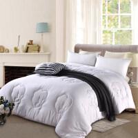棉被冬被加厚保暖冬季双人纯棉花被子被芯全棉学生宿舍单人床10斤 白色 220x240cm 9.5斤