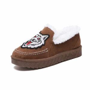 WARORWAR新品YM151-R729冬季休闲平底舒适女士雪地靴