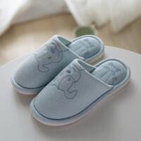 儿童棉拖鞋女居家秋冬季室内防滑软底可爱亲子家居拖鞋男保暖家用