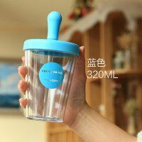 宝宝喝奶杯 儿童水杯宝宝喝水杯子带吸管防摔口杯可爱果汁杯小孩牛奶杯