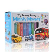 宝宝爱玩的交通工具大全8册纸板书盒装My Learning Library Mighty Movers 儿童英文原版绘