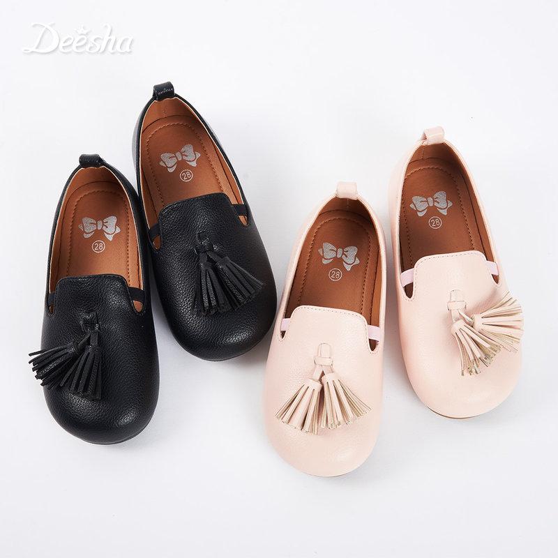 【3件3折到手价:59】笛莎女童装秋季新款皮鞋甜美流苏时尚儿童鞋子