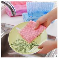 一次性抹布无纺布家务清洁不沾油洗碗巾擦碗布刷碗布厨房洗碗布 颜色随机(约80抽)2包