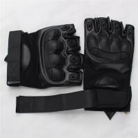 战术半指手套男手套健身格斗户外登山运动骑行防护软壳手套 A款