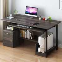 学生电脑桌简约家用电脑台式桌卧室书桌书架组合现代学生写字桌子
