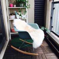创意摇椅成人客厅伊姆斯摇摇椅沙发布艺家用小户型懒人阳台休闲椅