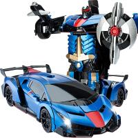 无线遥控汽车儿童玩具车男孩感应变形遥控车金刚机器人充电动赛车