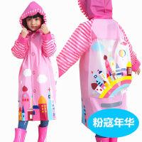 【支持礼品卡】儿童雨衣幼儿园宝宝雨披小孩学生男童女童环保雨衣带书包位 jt0