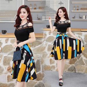 雪纺连衣裙女2018新款韩版显瘦长袖中长款时尚