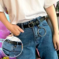 韩版个性三角形针扣挂环女式腰带学生装饰百搭休闲圆环扣皮带裤带