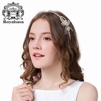 皇家莎莎韩国头饰发饰品时尚雪纺压发发箍头箍盘发夹发卡子头花